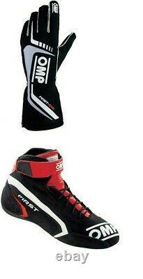 Ompgo Kart Racing Costume Avec Chaussures Et Gantscik-fia Level 2 Approuvé Par Le Vendeurus