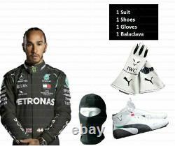 Petronas Go Kart Race Suit Cik/fia Niveau 2 Approuvé Avec Chaussures Et Gants