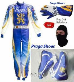 Praga Go Kart Race Suit Cik/fia Niveau 2 Approuvé Avec Des Chaussures Et Des Gants Assortis