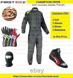 Première Evo Karting Suit Karting Chaussures Gants De Karting Racing Suit Niveau 2 Approuvé