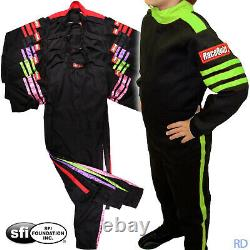 Racequip Pro 1 Youth Sfi-1 Fire Rated Racing Suit Auto Kart Child's 1-piece