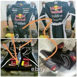 Red Bull Go Kart Race Suit Cik/fia Niveau 2 Approuvé Avec Des Chaussures Et Des Gants