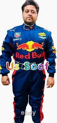 Red Bull Go Kart Race Suite Cik Fia Niveau 2 Approuvé Avec Cadeau De Chaussures Gants Gratuits
