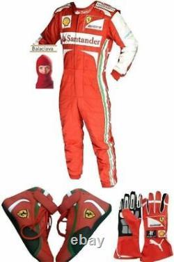 Santander Go Kart Race Suit Cik /fia Niveau 2 Approuvé Avec Chaussures & Gants