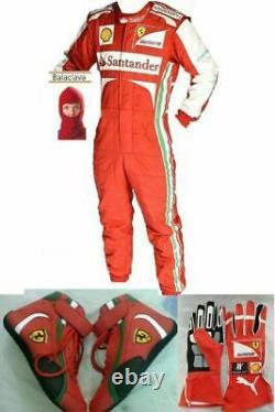 Santander-go Kart Racing Costume Avec Chaussures & Gants Sublimés Cik Fia Niveau 2