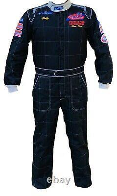 Sparco Cik-fia Kart Rally Race Racing Costume Black Mens Sz Large