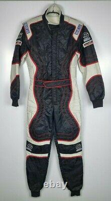 Sparco Racing Suit Go Kart Formula One Size M Sandtler Blanc Noir Rembourré 2001