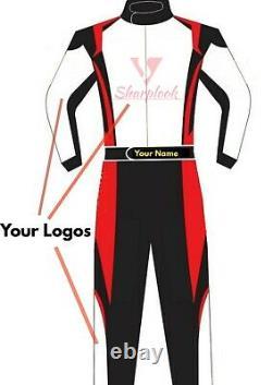Sublimation Personnalisée Imprimé Go Kart Race Suit Cik Fia Niveau 2