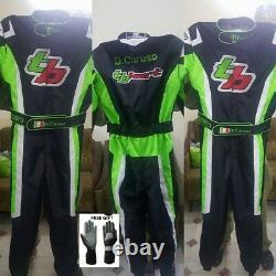 Tb Kart Race Suit Cik Fia Niveau 2 Approuvé Avec Gants-cadeaux Gratuits & Balaclava