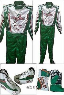 Tony Kart Go Kart Race Suit Cik/fia Niveau 2 Approuvé Avec Des Chaussures Et Des Gants Assortis