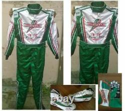 Tony-kart-go Kart Racing Costume Avec Chaussures & Gants Sublimés Cik Fia Niveau 2